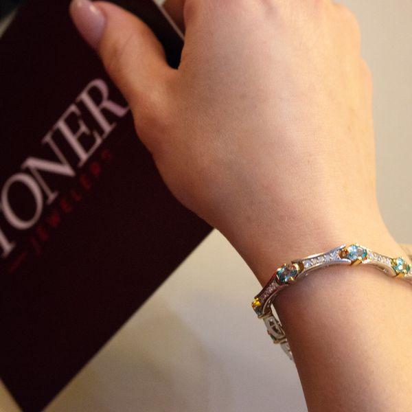 Paribia Tourmaline & Diamond Bracelet Image 3 Toner Jewelers Overland Park, KS