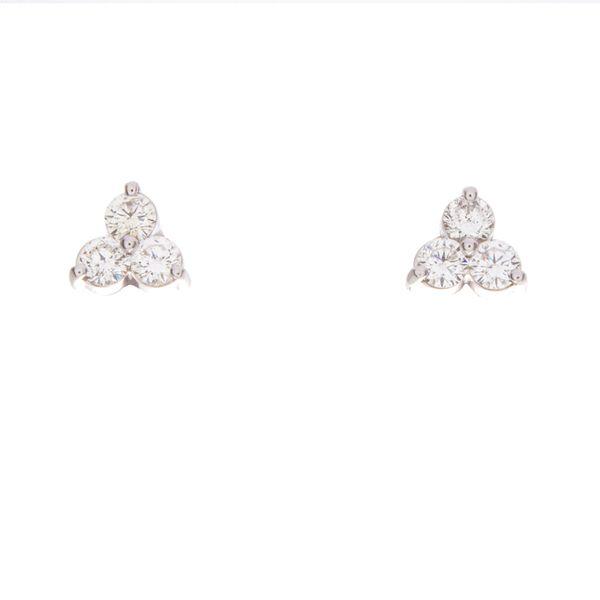 Tri-Stone Estate Diamond Earrings Toner Jewelers Overland Park, KS