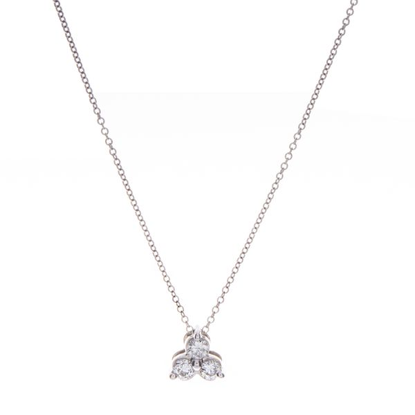 Tri-Stone Diamond Necklace Toner Jewelers Overland Park, KS