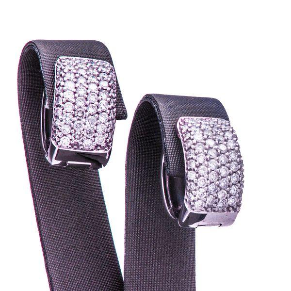 Huggie Style Diamond Hoop Earrings Image 2 Toner Jewelers Overland Park, KS