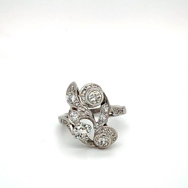 Vintage Floral Estate Diamond Ring Toner Jewelers Overland Park, KS