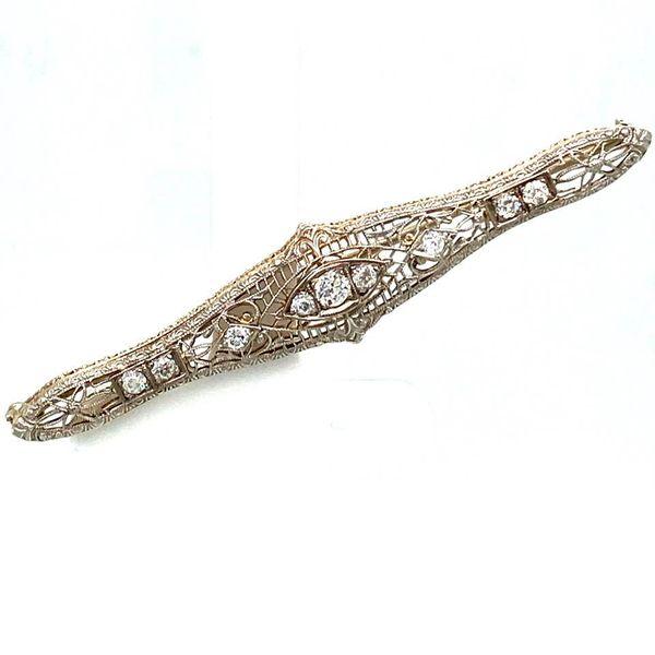 Estate Antique Diamond Brooch Image 2 Toner Jewelers Overland Park, KS