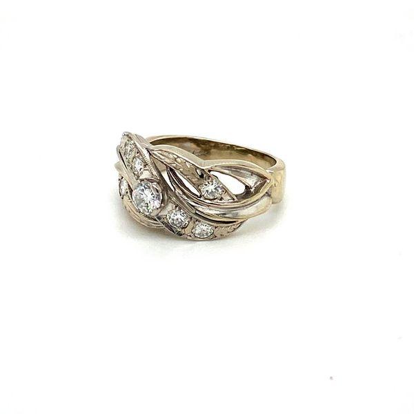 Diamond Estate Scrollwork Ring Image 2 Toner Jewelers Overland Park, KS
