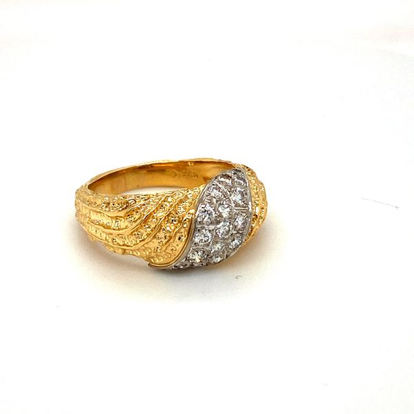 Estate Two-Tone Diamond Ring Image 2 Toner Jewelers Overland Park, KS