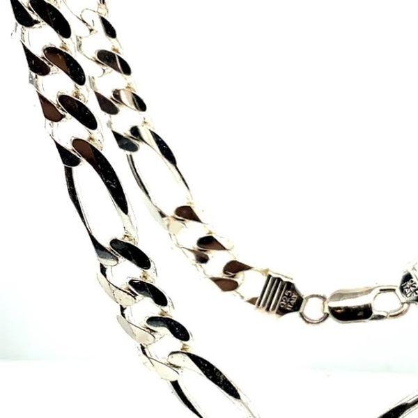 Cuban Link Silver Chain Image 2 Toner Jewelers Overland Park, KS