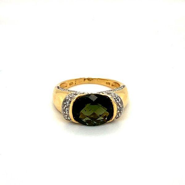 Estate Moldavite Ring Image 2 Toner Jewelers Overland Park, KS