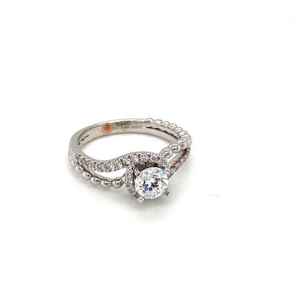 Bypass Shank Engagement Ring Setting Image 2 Toner Jewelers Overland Park, KS