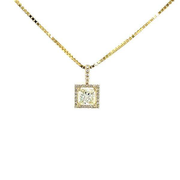 Princess Diamond Necklace  Image 2 Toner Jewelers Overland Park, KS