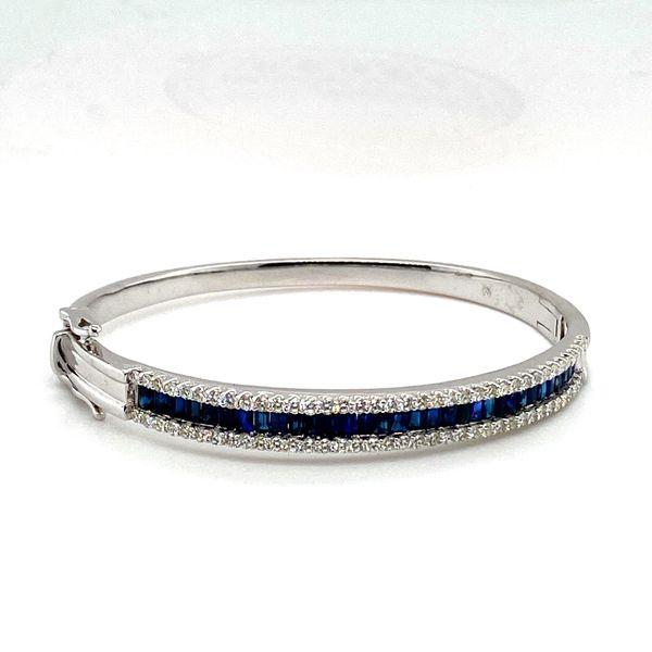 Sapphire and Diamond Bangle  Image 2 Toner Jewelers Overland Park, KS