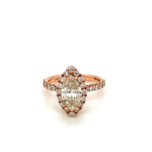 Rose Gold, Marquise Engagement Ring  Toner Jewelers Overland Park, KS