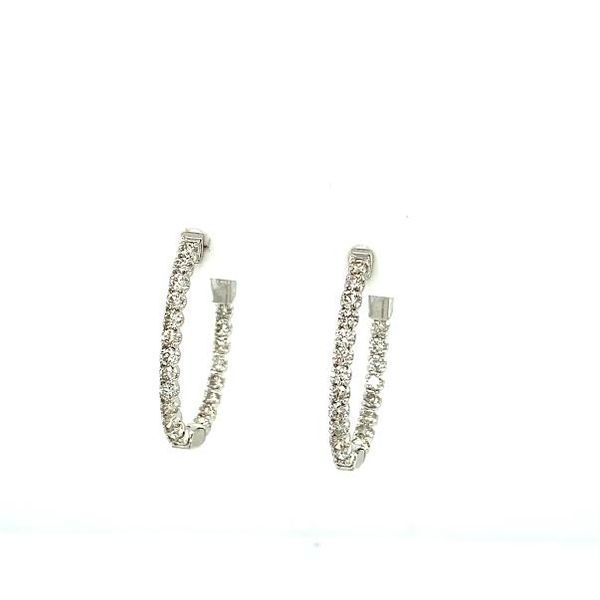 1ct Diamond Inside-Outside Hoop Earrings  Toner Jewelers Overland Park, KS