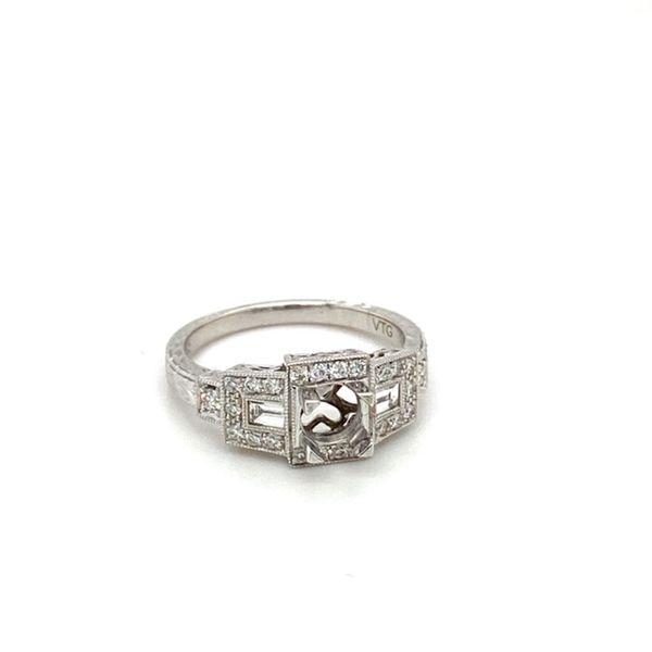 Geometric Diamond Engagement Ring Setting Image 2 Toner Jewelers Overland Park, KS