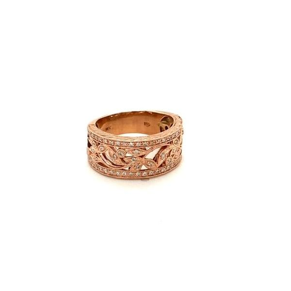 Estate Rose Gold Diamond Ring  Image 3 Toner Jewelers Overland Park, KS