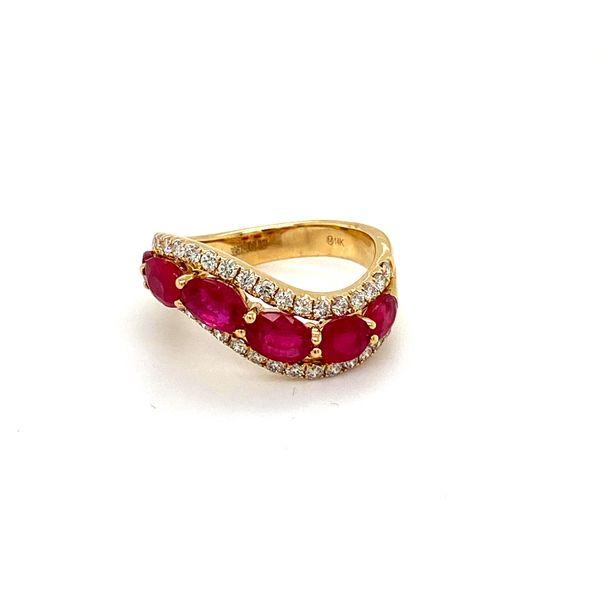 Ruby and Diamond Wave Band Toner Jewelers Overland Park, KS
