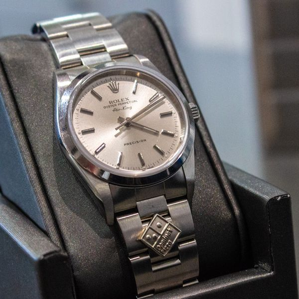 Gents Rolex Air King with Domino's Pizza Logo