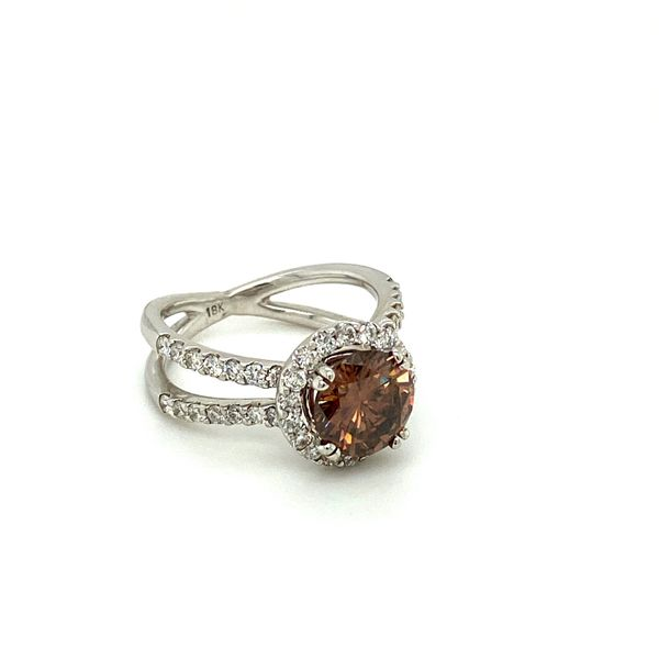 Estate Cognac Diamond Ring Image 2 Toner Jewelers Overland Park, KS