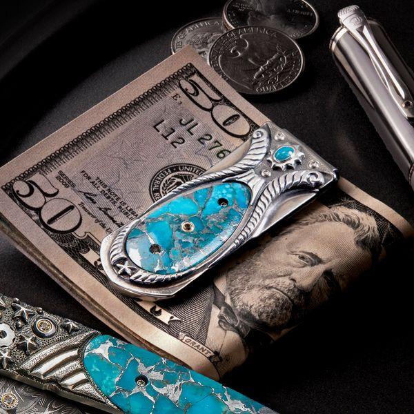 Kingman Turquoise Money Clip Toner Jewelers Overland Park, KS