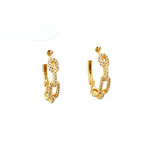 Diamond Chain Hoops Image 2 Toner Jewelers Overland Park, KS