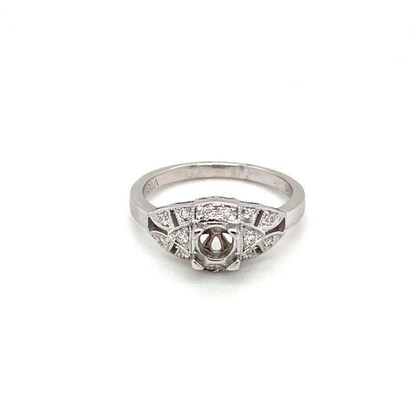 Vintage Diamond Engagement Ring Setting Toner Jewelers Overland Park, KS