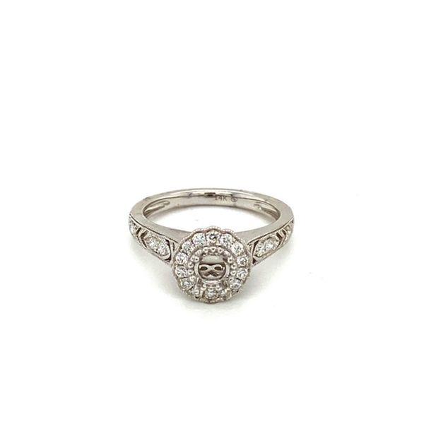 Diamond Engagement Ring Setting with Flower Halo Toner Jewelers Overland Park, KS