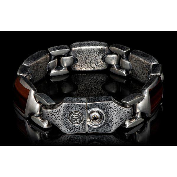 Red Tiger Eye Men's Retro Bracelet Image 3 Toner Jewelers Overland Park, KS