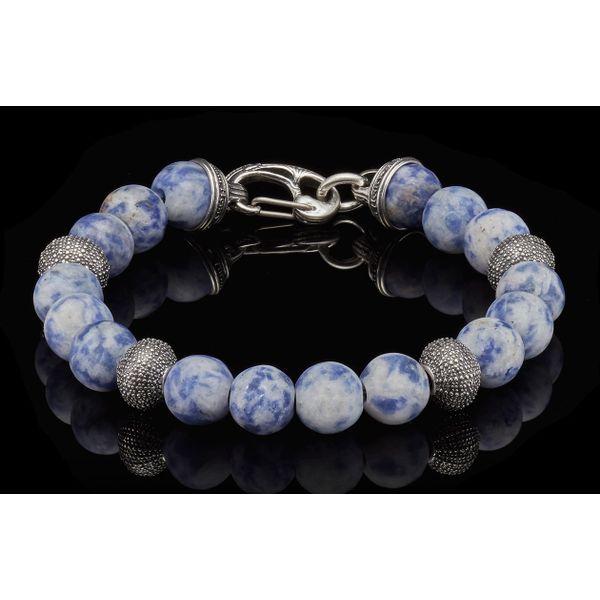 Pacific Ocean Sodalite Bead Men's Bracelet Toner Jewelers Overland Park, KS