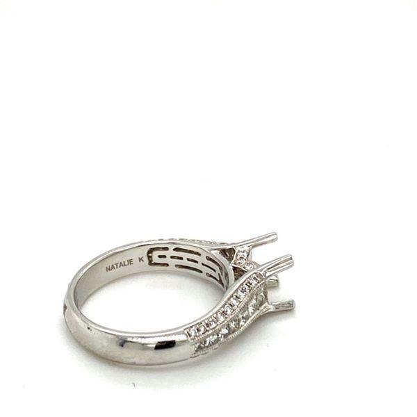 14K White Gold Diamond Engagement Ring Setting  Image 4 Toner Jewelers Overland Park, KS