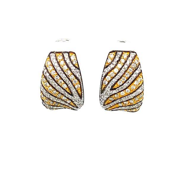 Estate Diamond Zebra Earrings  Toner Jewelers Overland Park, KS