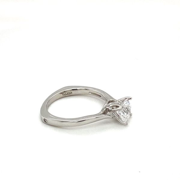 14K White Gold Engagement Ring Setting Image 3 Toner Jewelers Overland Park, KS
