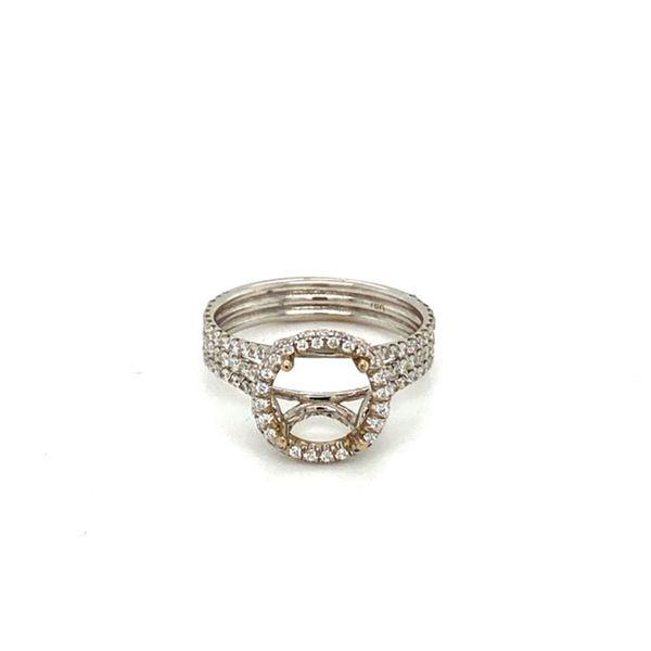 Triple Diamond Shank Engagement Ring Setting Toner Jewelers Overland Park, KS