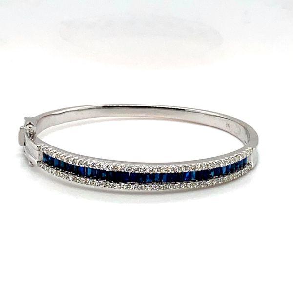 Sapphire and Diamond Bangle  Toner Jewelers Overland Park, KS