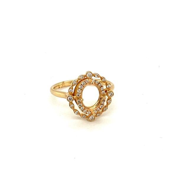 Diamond Engagement Ring Setting with Vintage Halo Image 2 Toner Jewelers Overland Park, KS