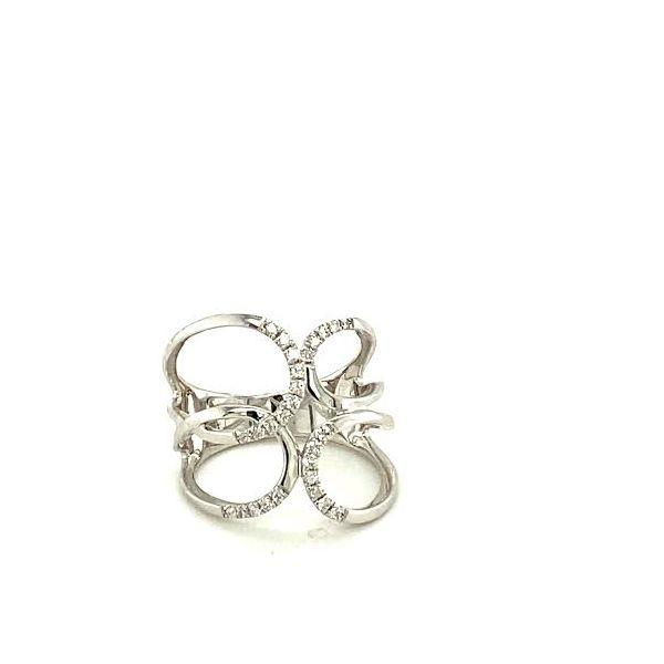 White Gold and Diamond Fashion Ring Image 2 Toner Jewelers Overland Park, KS