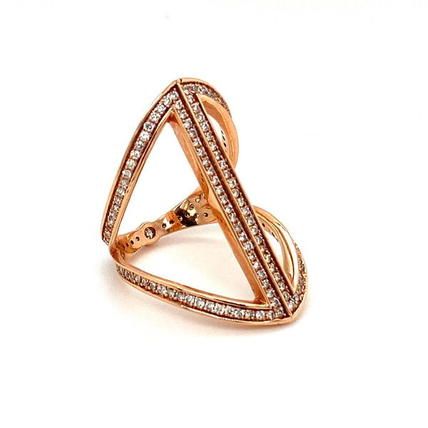 Estate Diamond Geometric Ring Image 2 Toner Jewelers Overland Park, KS