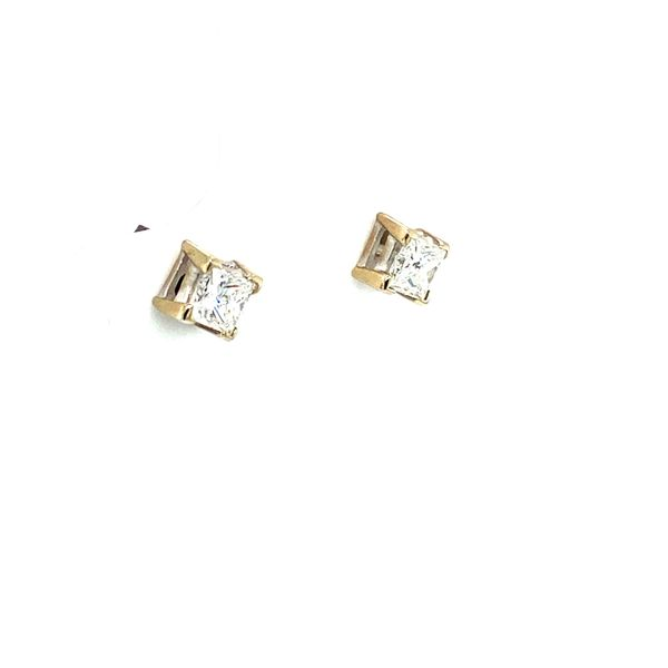 Princess Cut Diamond Studs Image 2 Toner Jewelers Overland Park, KS