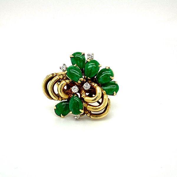 Lady's Estate Jade and Diamond Ring Toner Jewelers Overland Park, KS