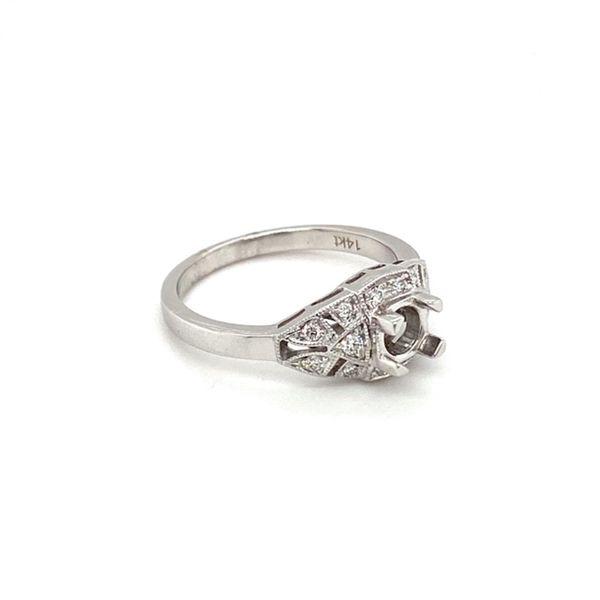 Vintage Diamond Engagement Ring Setting Image 3 Toner Jewelers Overland Park, KS