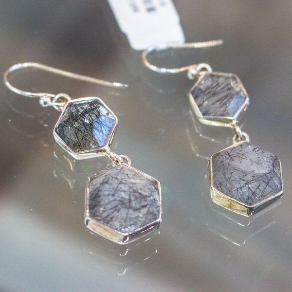 Octagon Rutilated Quartz Earrings Toner Jewelers Overland Park, KS
