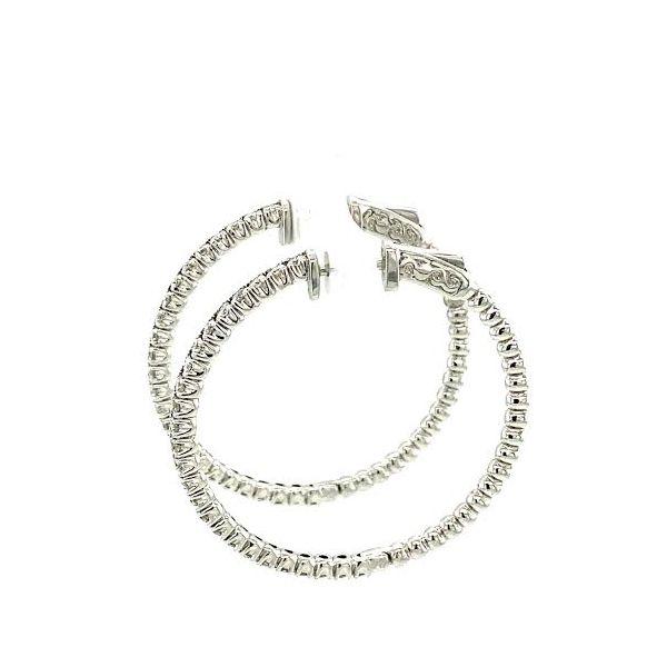 Diamond Hoops Image 4 Toner Jewelers Overland Park, KS
