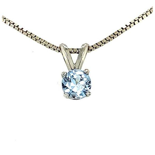 Estate Aquamarine Necklace Pendant Image 2 Toner Jewelers Overland Park, KS
