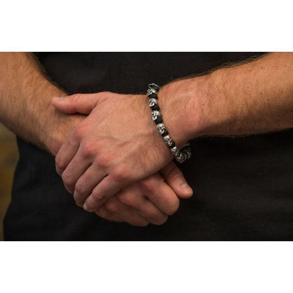 Sugar Skull & Onyx Men's Bracelet Image 3 Toner Jewelers Overland Park, KS