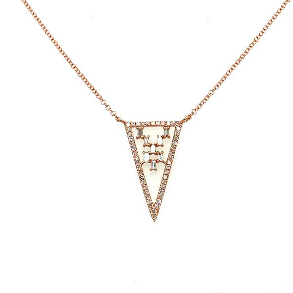 Diamond Triangle Necklace Toner Jewelers Overland Park, KS
