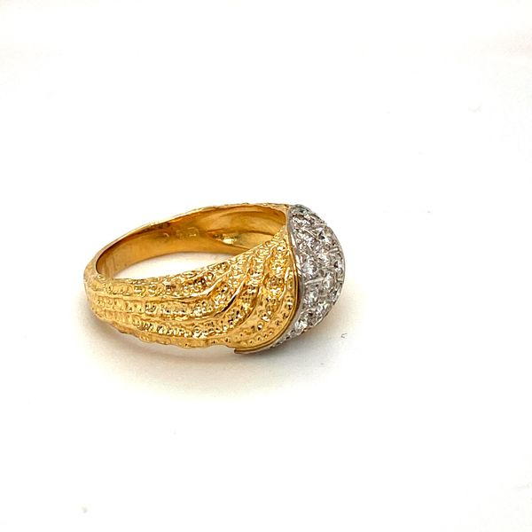 Estate Two-Tone Diamond Ring Image 3 Toner Jewelers Overland Park, KS