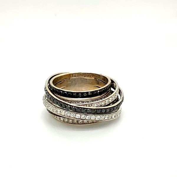 Lady's Estate Black and White Diamond Ring Toner Jewelers Overland Park, KS