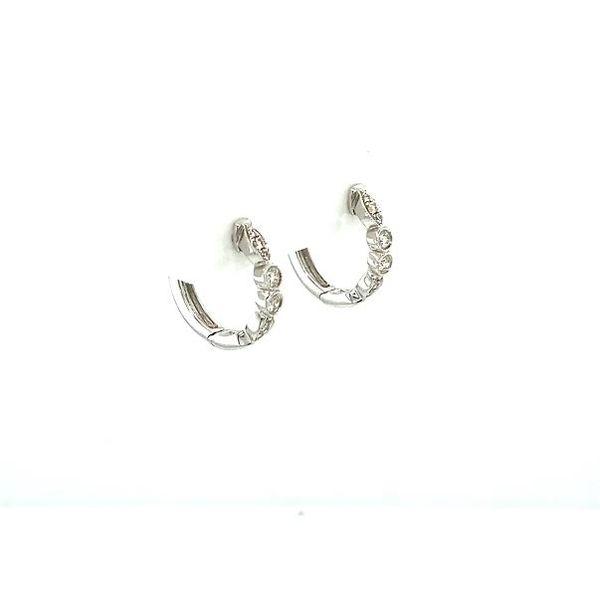 Diamond Small Hoop Earrings Image 3 Toner Jewelers Overland Park, KS