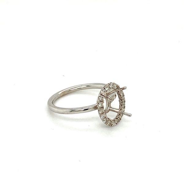 Oval Engagement Ring Setting Image 3 Toner Jewelers Overland Park, KS