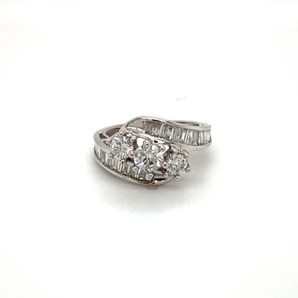 Estate Diamond Bypass Ring with Baguettes Toner Jewelers Overland Park, KS