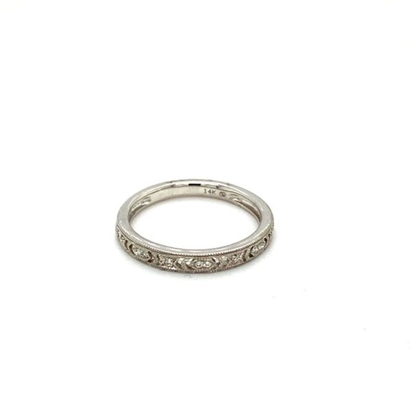 Diamond Wedding Band with Filigree and Milgrain Image 2 Toner Jewelers Overland Park, KS
