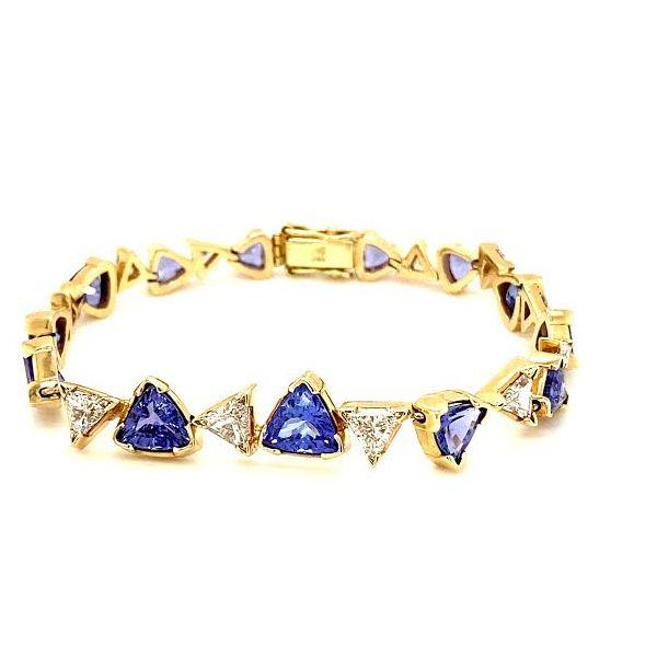 Estate Tanzanite and Diamond Bracelet Image 3 Toner Jewelers Overland Park, KS