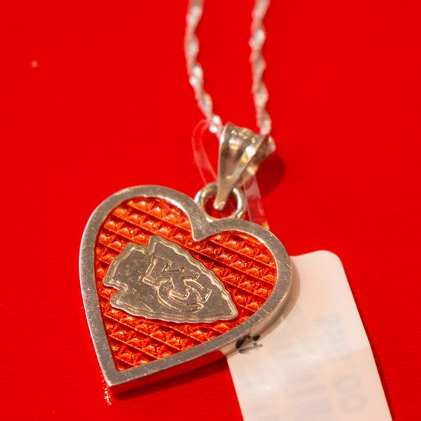 KC Chiefs Heart Necklace